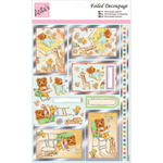 Nursery Bear - Anita's A4 Foiled Decoupage Sheet