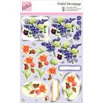 Spring Flowers - Anita's A4 Foiled Decoupage Sheet