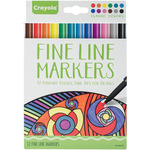 Classic - Crayola Fine Line Marker Set 12/Pkg