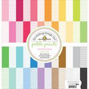 "Rainbow - Dooblebug Petite Swiss Dot Cardstock 12""X12"" 24/Pkg"