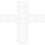"""Easter Cross - Gourmet Rubber Stamps Stencil 6""""X6"""""""
