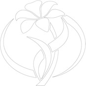 """Flower Oval - Gourmet Rubber Stamps Stencil 6""""X6"""""""