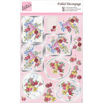 Roses & Bells - Anita's A4 Foiled Decoupage Sheet