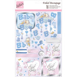 Baby Elephant - Anita's A4 Foiled Decoupage Sheet
