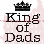 """King Of Dads - Woodware Clear Stamps 3.5""""X3.5"""""""