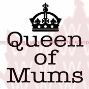 """Queen Of Mums - Woodware Clear Stamps 3.5""""X3.5"""""""