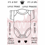 "Cutie Pie Vest - Woodware Clear Stamps 3.5""X5.5"""