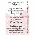 "Supportive Words - Woodware Clear Stamps 3.5""X5.5"""