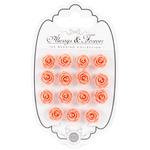 Peach - Craft Consortium Always & Forever Resin Flowers 15/Pkg