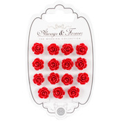 Rose Red - Craft Consortium Always & Forever Resin Flowers 15/Pkg