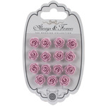 Lilac - Craft Consortium Always & Forever Resin Flowers 15/Pkg