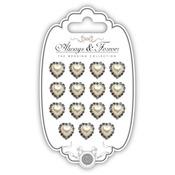 Heart - Craft Consortium Always & Forever Pearl Embellishment 15/Pkg