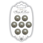 Circle - Craft Consortium Always & Forever Pearl Embellishments 7/Pkg