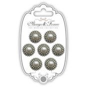 Circle - Craft Consortium Always & Forever Pearl Embellishments 7/Pkg