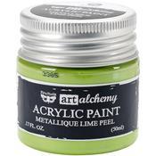 Metallique Lime Peel Acrylic Paint - Art Alchemy - Finnabair