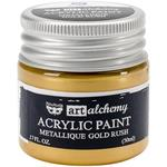 Metallique Gold Rush Acrylic Paint - Art Alchemy - Finnabair