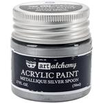 Metallique Silver Spoon Acrylic Paint - Art Alchemy - Finnabair