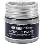 Metallique Silver Spoon Acrylic Paint - Art Alchemy - Finnabair