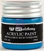 Metallique Rich Turquoise Acrylic Paint - Art Alchemy - Finnabair