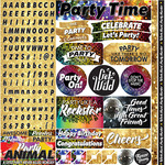 It's Party Time Alpha Sticker Sheet - Reminisce