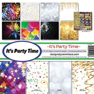 It's Party Time Page Kit - Reminsce