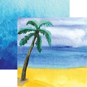 Watercolor Palm Paper - Seaside - Reminisce