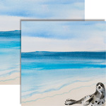 Watercolor Seal Paper - Seaside - Reminisce