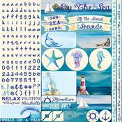 Seaside Alpha Sticker Sheet - Reminisce