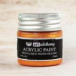 Metallique Fresh Orange Acrylic Paint - Art Alchemy - Finnabair