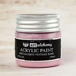 Vintage Rose Metallique Acrylic Paint - Art Alchemy - Finnabair