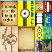 Words Of Adventure Poster Sticker Sheet - Reminisce