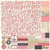 Belle Vie Alpha Sticker Sheet - Julie Nutting - Photoplay