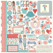 Paper Dolls Element Sticker Sheet - Julie Nutting - Photoplay