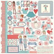 Paper Dolls Element Sticker Sheet - Julie Nutting - Photoplay