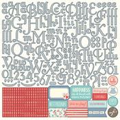 Paper Dolls Alpha Sticker Sheet - Julie Nutting - Photoplay
