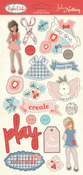 Paper Dolls Chipboard Stickers - Julie Nutting - Photoplay
