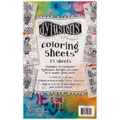 """Dyan Reaveley's Dylusions Coloring Sheets 5""""X8"""""""