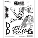 """I Can See Clearly Dylusions Cling Stamp Collections 8.5""""X7"""""""