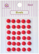 Red Self Adhesive Rivets - Queen & Co
