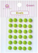 Green Self Adhesive Rivets - Queen & Co