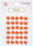 Orange Self Adhesive Rivets - Queen & Co