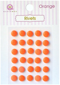 Orange Self Adhesive Rivets - Queen & Co