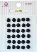 Black Self Adhesive Rivets - Queen & Co
