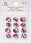 Pink Glittery Striped Stones - Queen & Co
