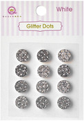 White Glittery Dots - Glitter Stones - Queen & Co