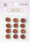 Orange Glittery Dots - Glitter Stones - Queen & Co