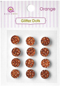 Orange Glittery Dots - Glitter Stones - Queen & Co