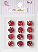 Red Glittery Dots - Glitter Stones - Queen & Co