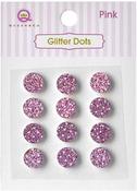 Purple Glittery Dots - Glitter Stones - Queen & Co
