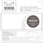 White Die-Cut Heart - Papermania Ever After Wedding Blank Cards 25/Pkg